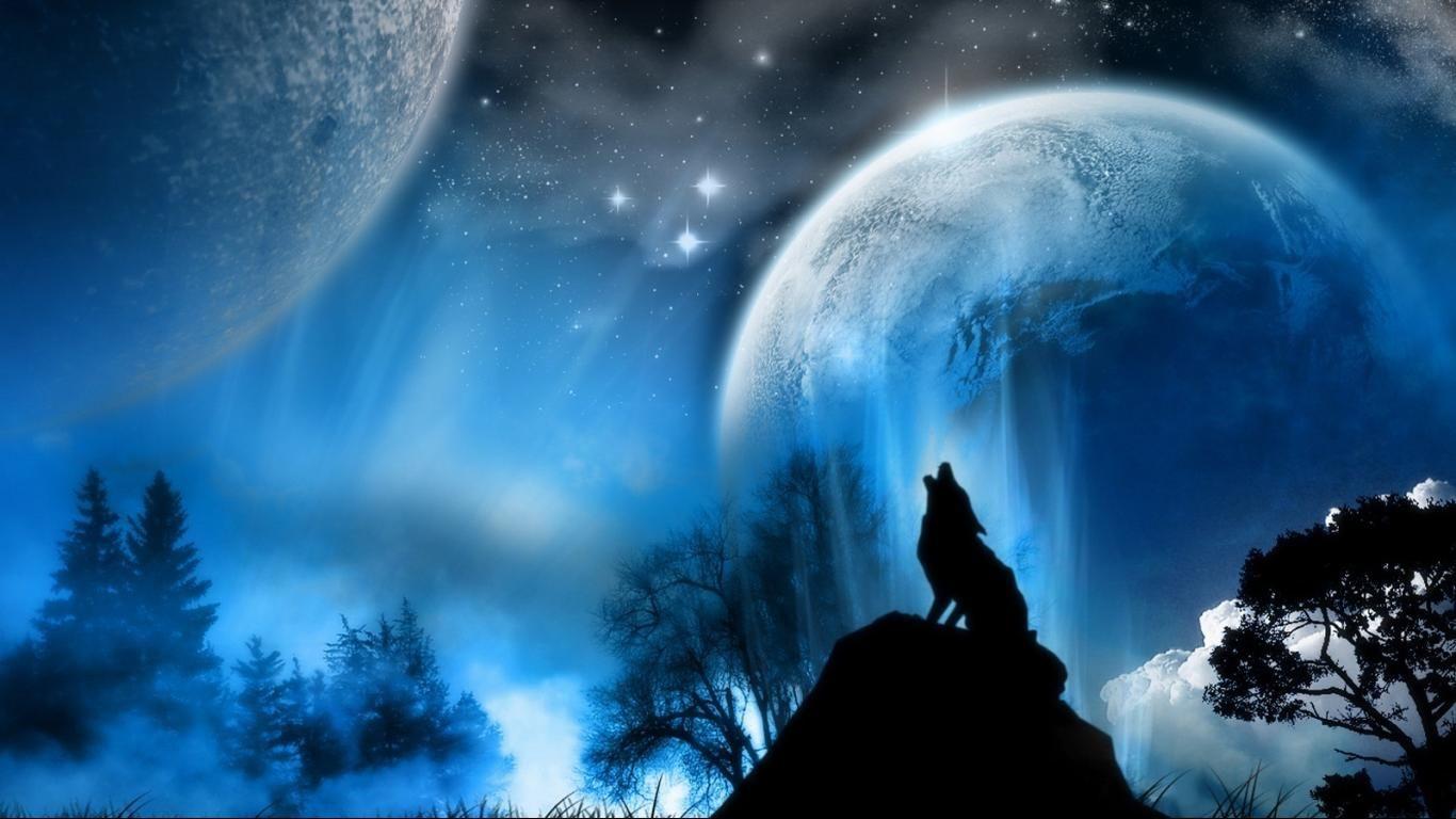 Wolf Howling At The Moon Wallpapers Pejzazhi Zhivopisnye Pejzazhi Izobrazhenie Dikoj Priroty