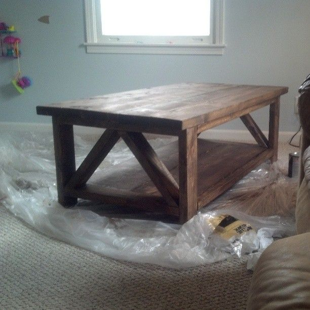 Rustic X Mixed With A Triple Truss Coffee Table
