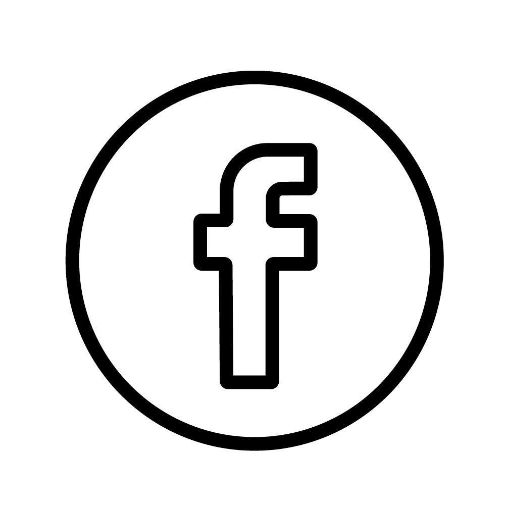 Facebook Black Logo Outline Facebook Logo White Logo Logo Outline