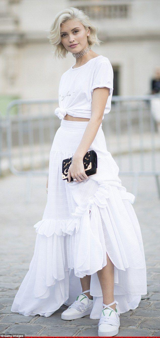 Sokak modası şık etek trendleri