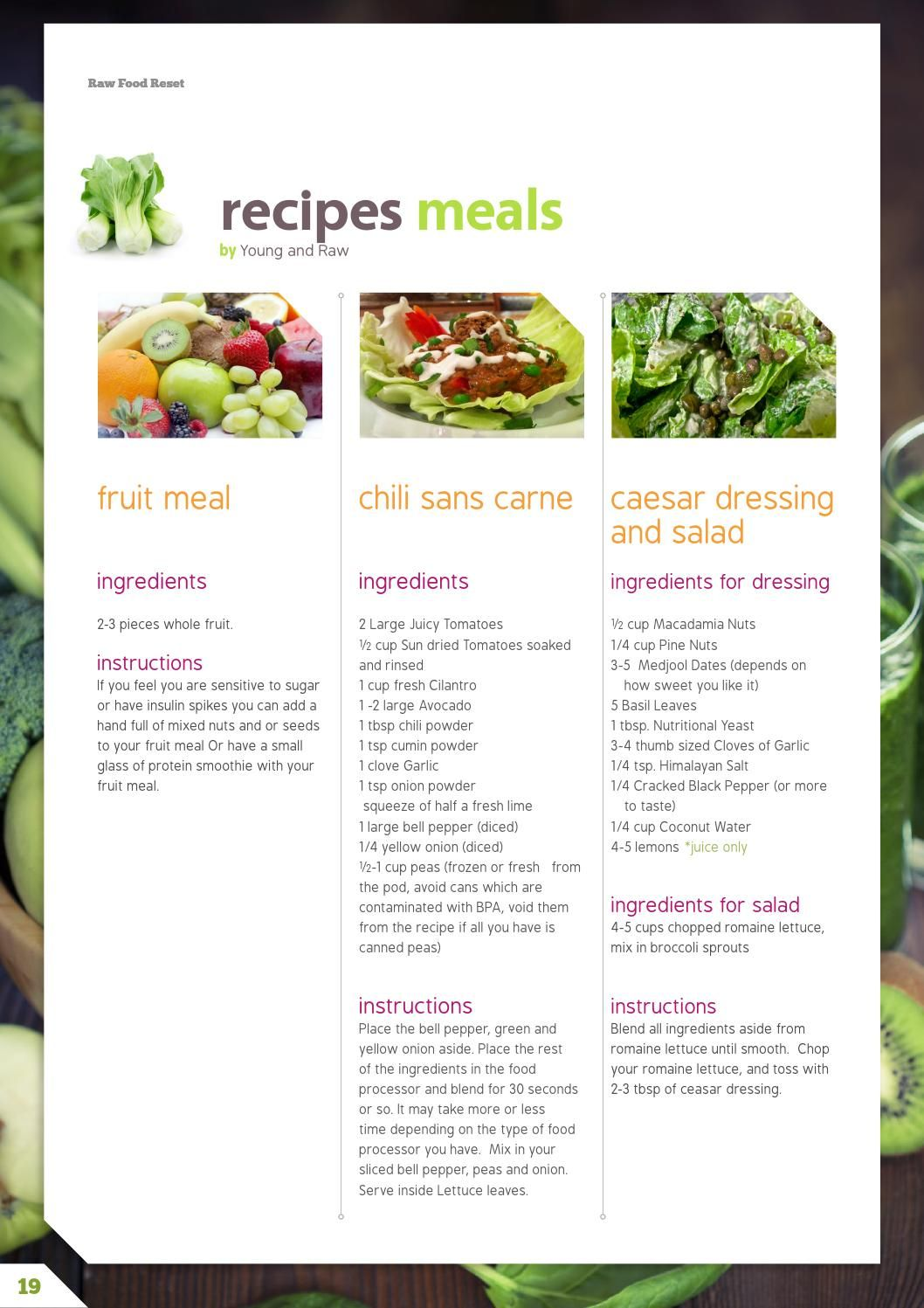 Raw Food Reset 21 Day Raw Cleanse Meal Plan Raw Food