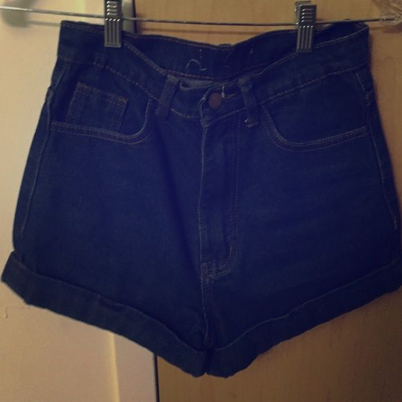 Blue high waisted shorts Bought in Korea Accept any reasonable offer Shorts