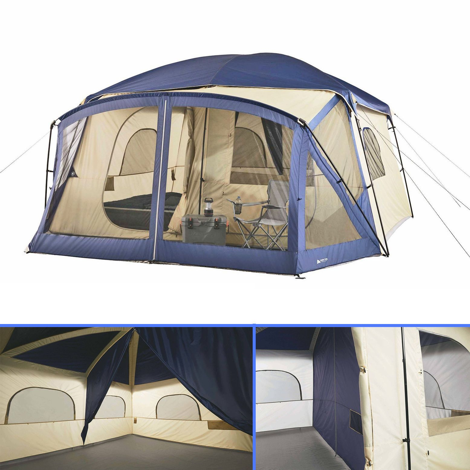 Outdoor Canopy Tent Screen House 12-Person Cabin Porch Sleeper C&ing Bed Hiker  sc 1 st  Pinterest & Outdoor Canopy Tent Screen House 12-Person Cabin Porch Sleeper ...