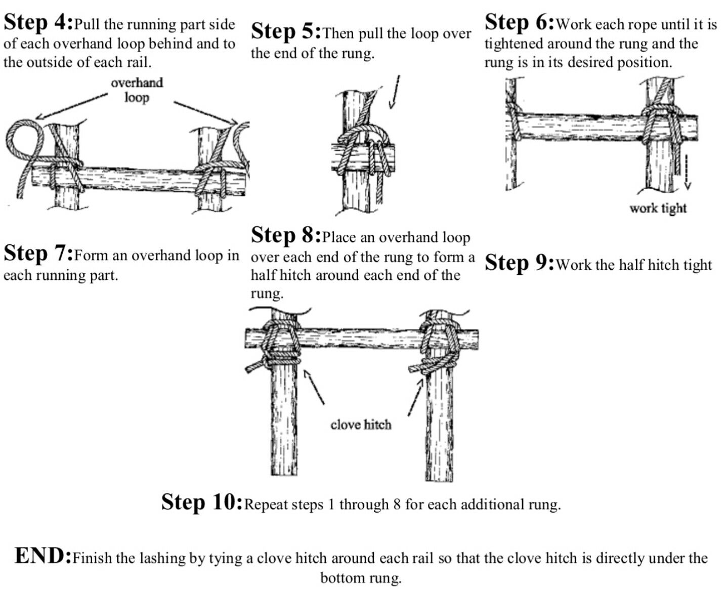 Cub Scouts Ladder Lashing | Scouts - Knots | Pinterest for Rope Ladder Knot  117dqh
