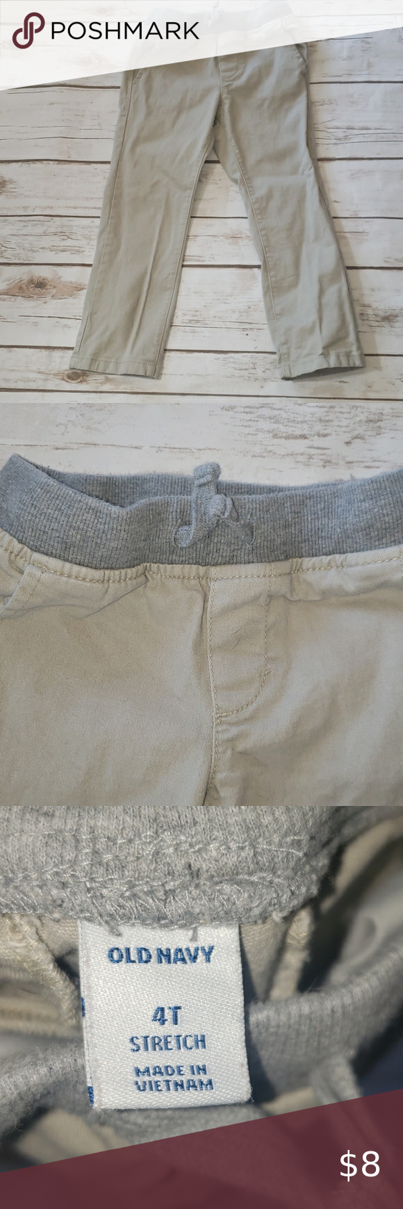 Old Navy Stretch Pull on Pants size 4T Khaki