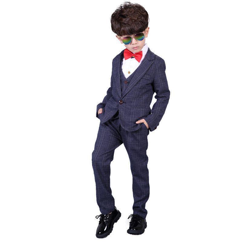 133fec38df4a 3-12 Year Children Formal Blazer Prom Wedding Baby Boys Suits 8 ...