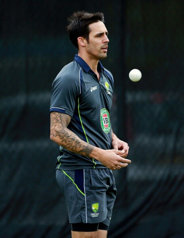 Mitchell Johnson for the Aussies