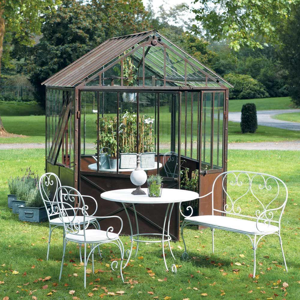 Serre en mtal effet rouille h cm tuileries maisons du monde plus with jardin maison du monde - Serre jardin castorama reims ...