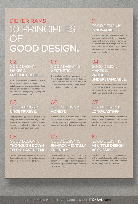 Dieter Rams 10 Principles Of Good Design Graphic Design Tips Design Theory Graphic Design