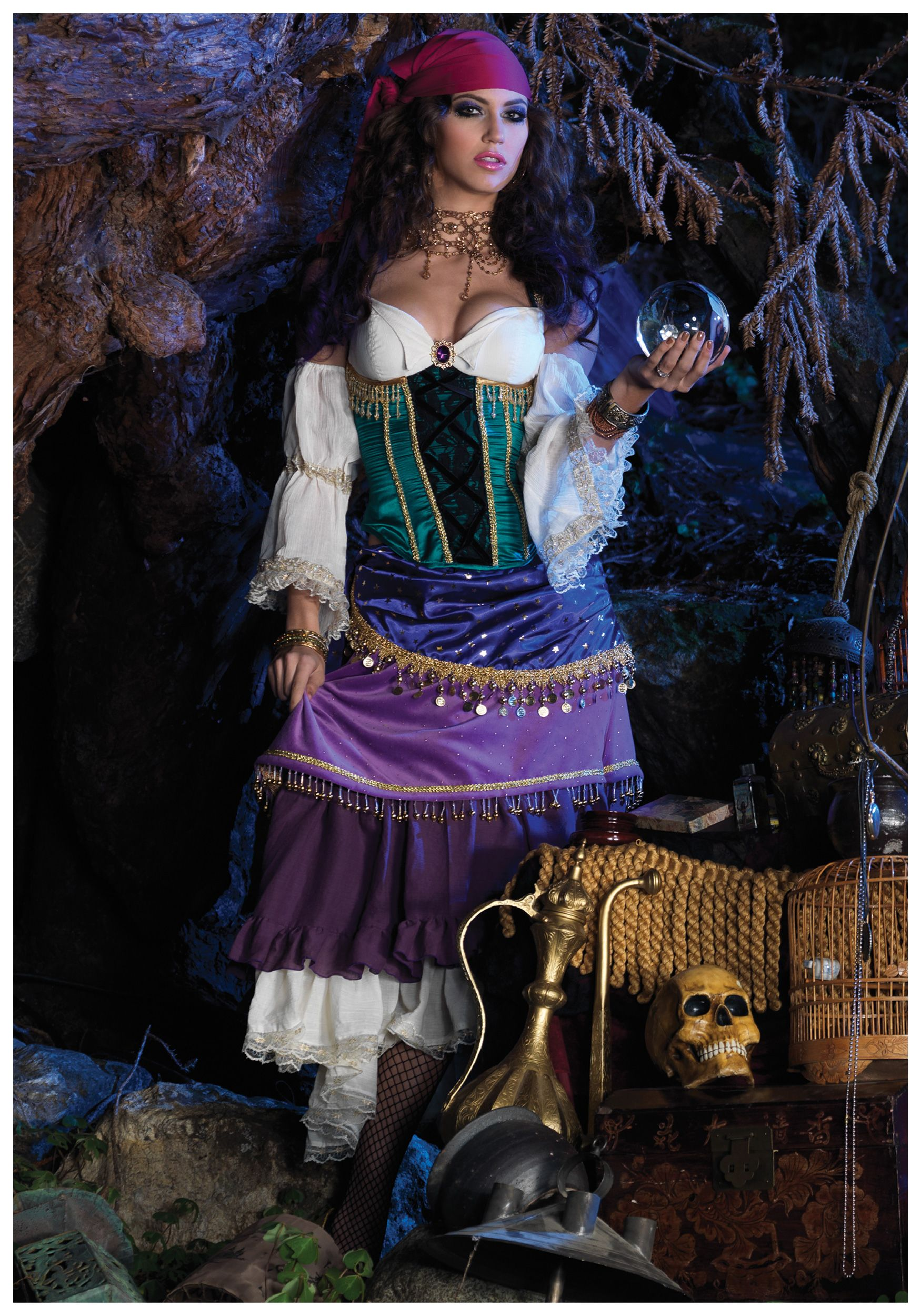 400995a8fe Deluxe Tarot Card Gypsy Costume | halloween | Gypsy costume, Fortune ...
