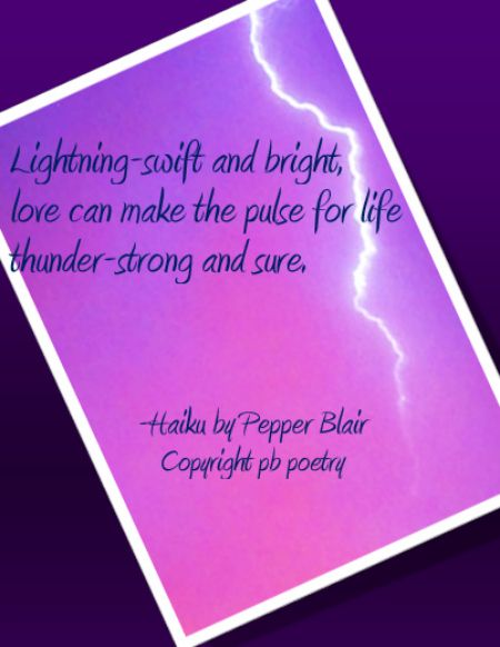 Pulse for Life, Picture Haiku by Pepper Blair, http://www.love-pb ...