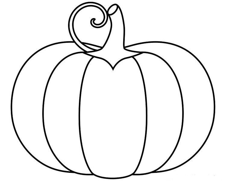 Simple Pumpkins Coloring Pages Pumpkin Coloring Pages Fall Coloring Pages Halloween Coloring Sheets