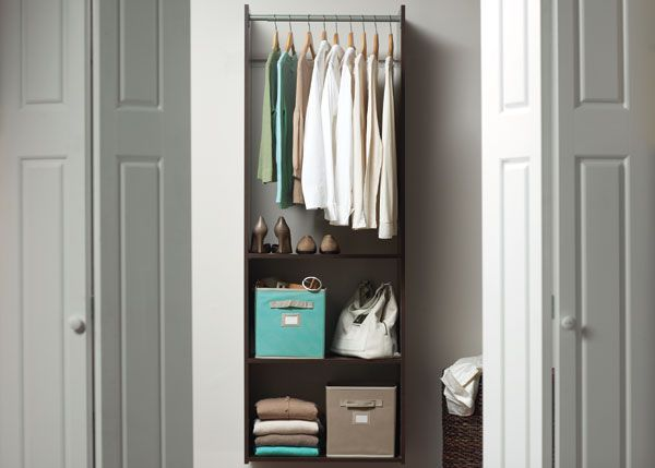 Image Of The Martha Stewart Living Starter Closet Kit In An Organized Closet