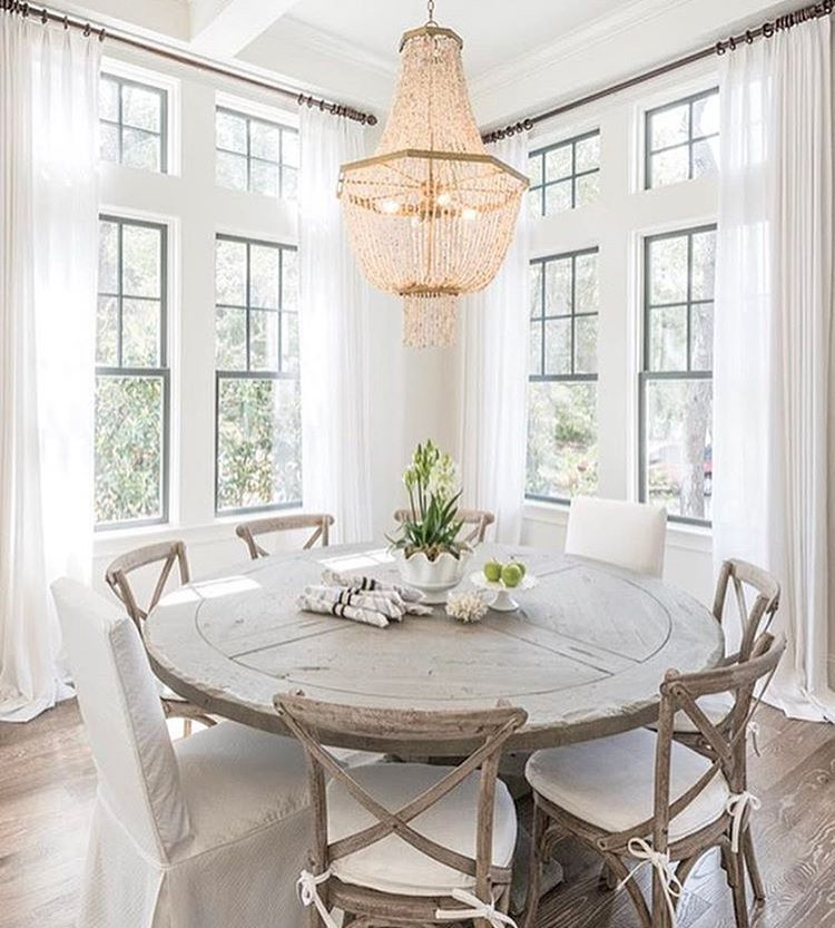 2 451 Likes 12 Comments Interior Home Inspiration Lovelyinterior On Instagram Credit Round Dining Room Cottage Dining Rooms Beach House Dining Room Cottage retreat dining room furniture