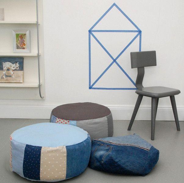 Kissen - Hülle Sitzkissen Bodenkissen m Stillkissenfüllung - ein Designerstück von sincerelyyours bei DaWanda