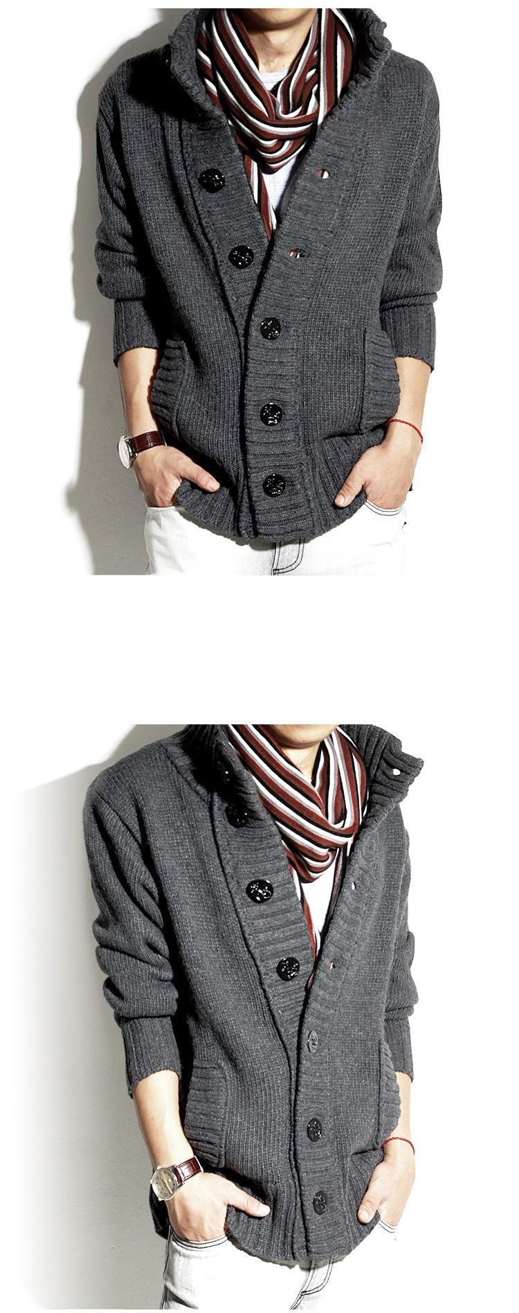 Buttoned Knit Jacket - Lost Impression | YESSTYLE