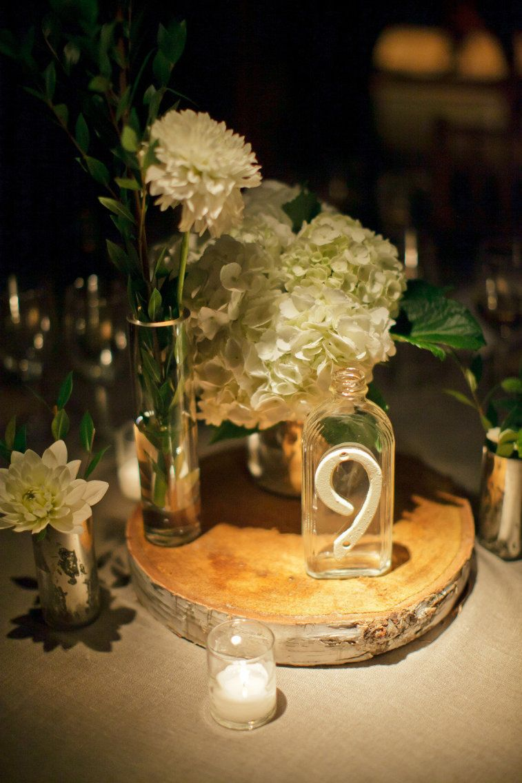 100 rustic wedding centerpiece ideas fabmood wedding colors rustic hydrangea centerpieces on wood slice rustic wedding centerpiece centerpiece rustic wedding junglespirit Choice Image