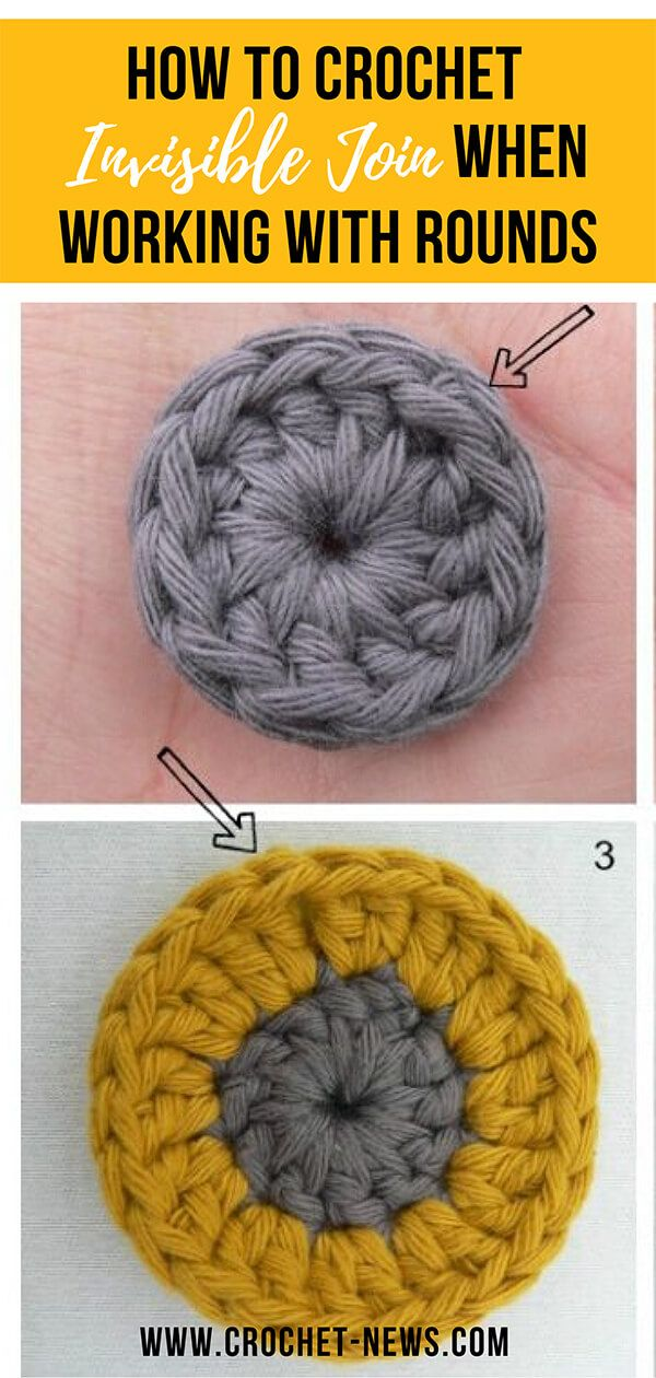 How To Crochet Invisible Join When Working with Rounds | Written - Crochet News