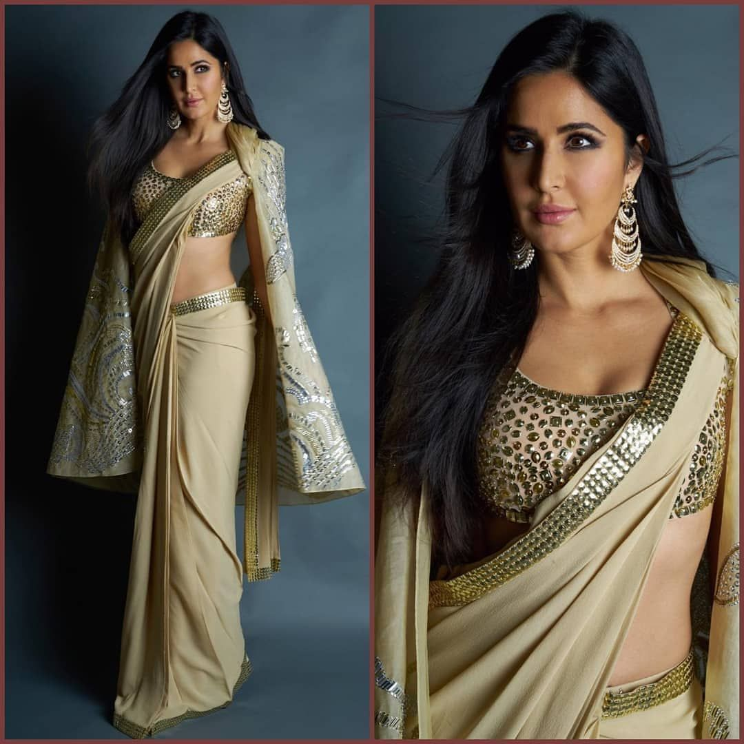 Katrina Kaif Saree Blouse Design With Embroidery Blouse Designs Katrina Kaif Saree