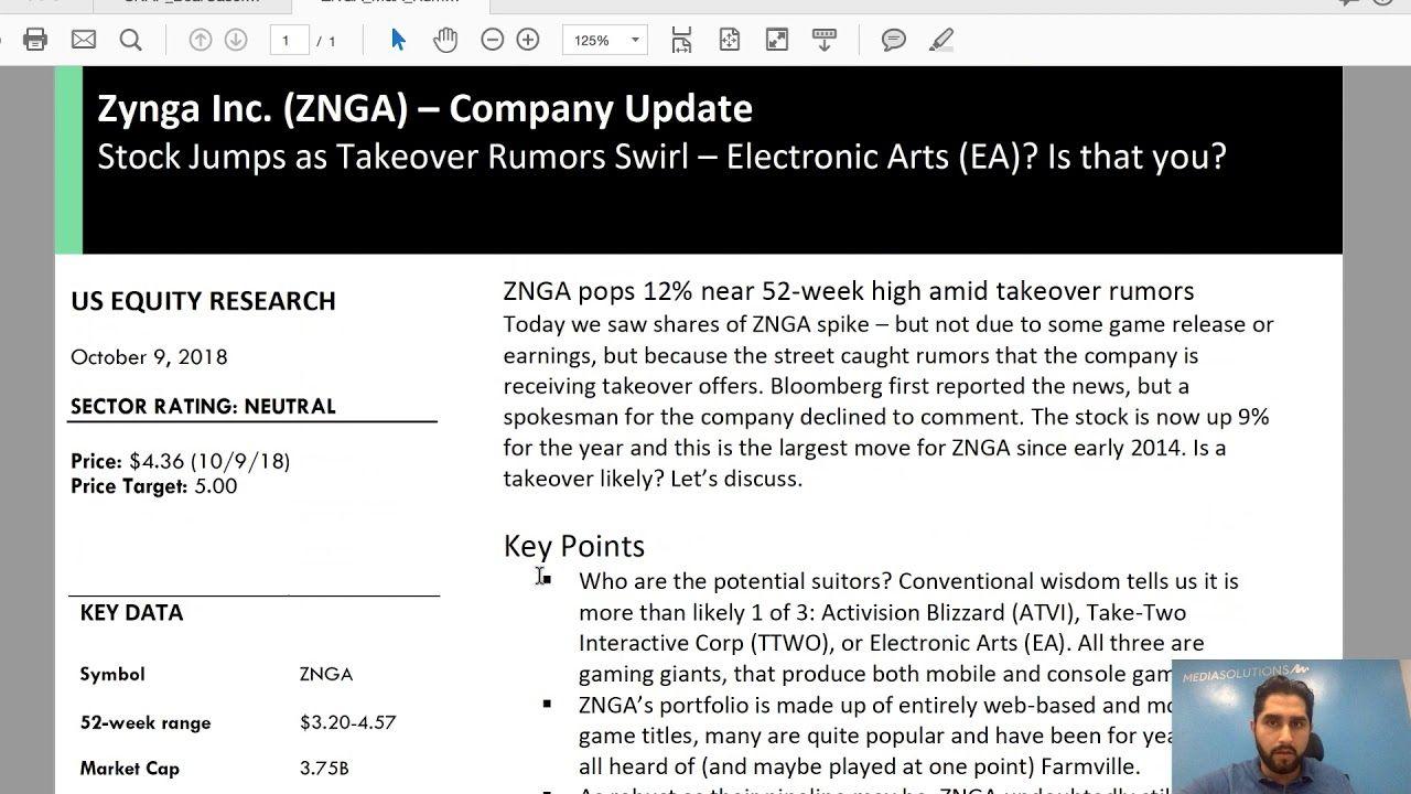 How Stocks Make You Money ZNGA Zynga Inc Gaming News