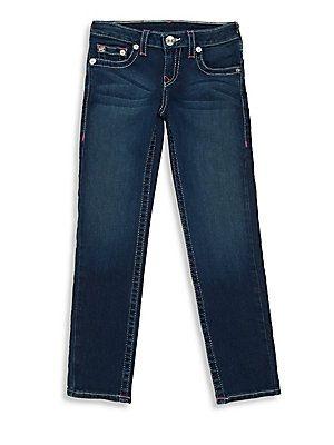 True Religion Girl's Denim Leggings - Alameda Wash - Size