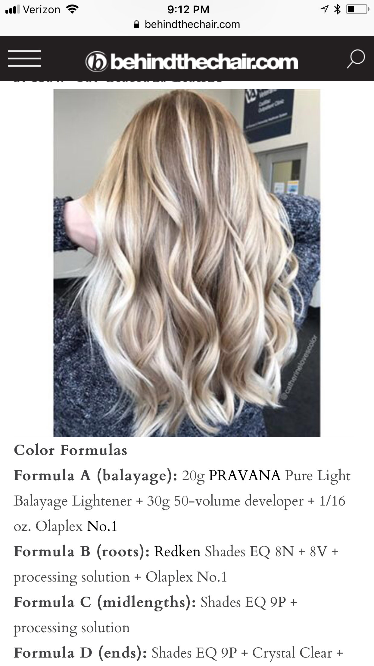 Redken Eq 9p Clear Behindthechair Com Color Formulas Balayage Olaplex Redken This Is Blonde In 2020 Redken Hair Products Hair Color Formulas Redken Hair Color