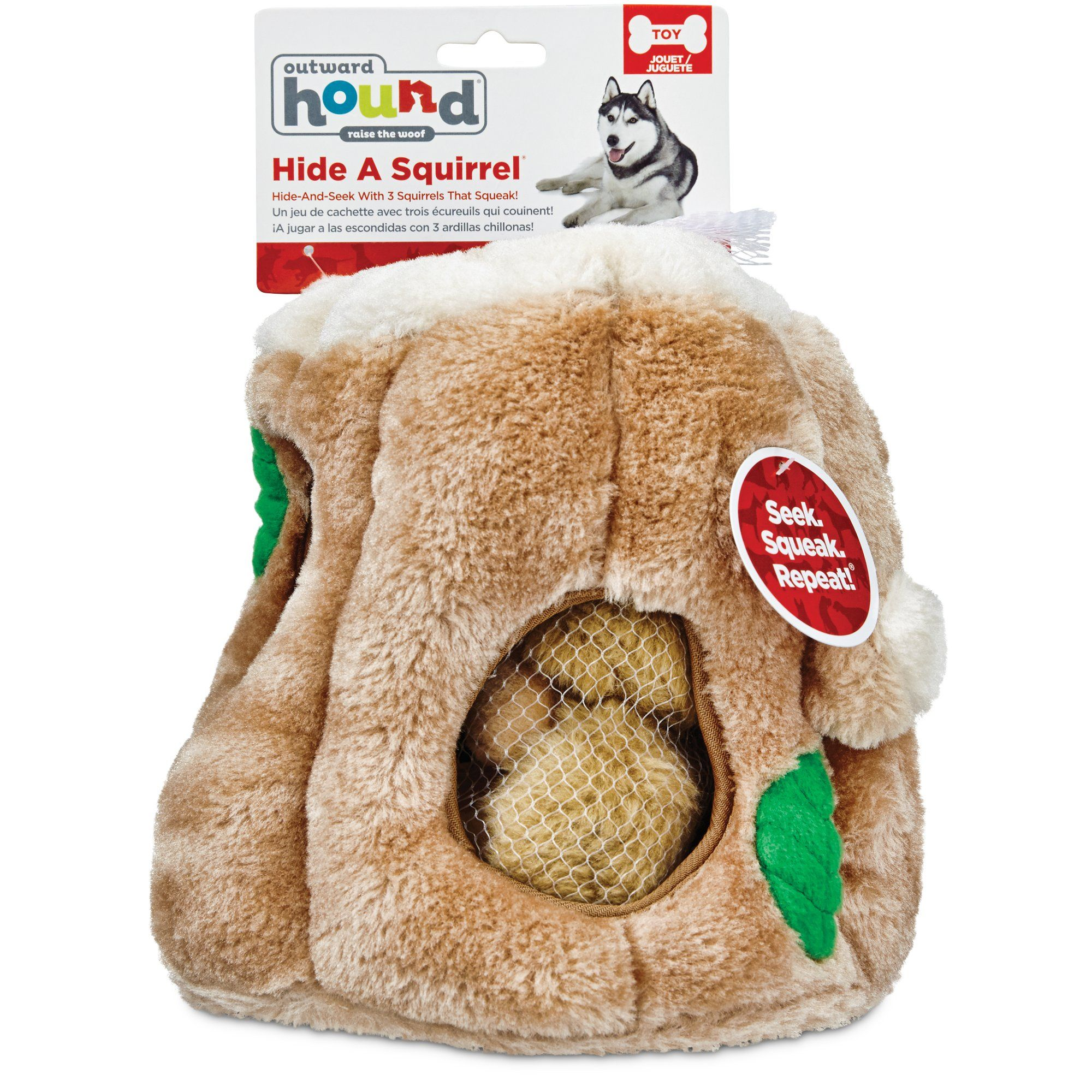Kyjen Outward Hound Hide A Squirrel Small Squirrel Your Dog