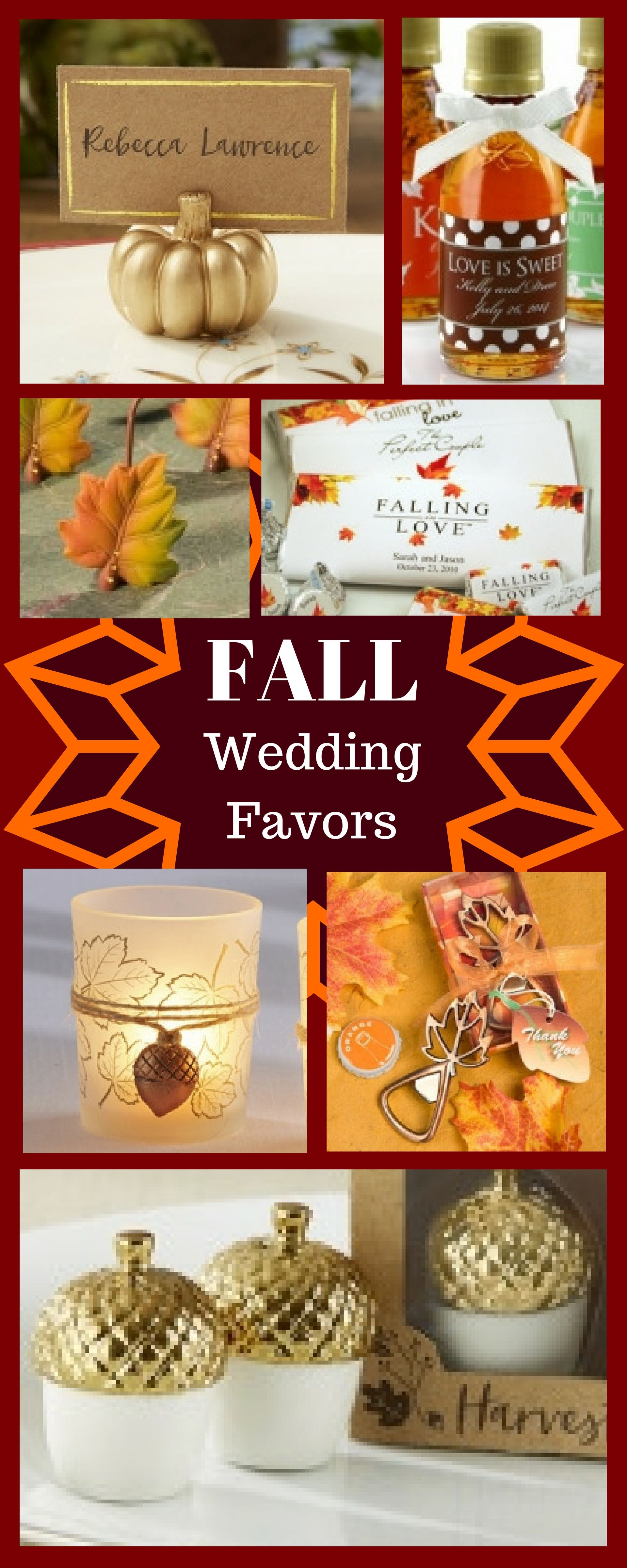 These wedding favors would be perfect for the fall wedding. | Member ...
