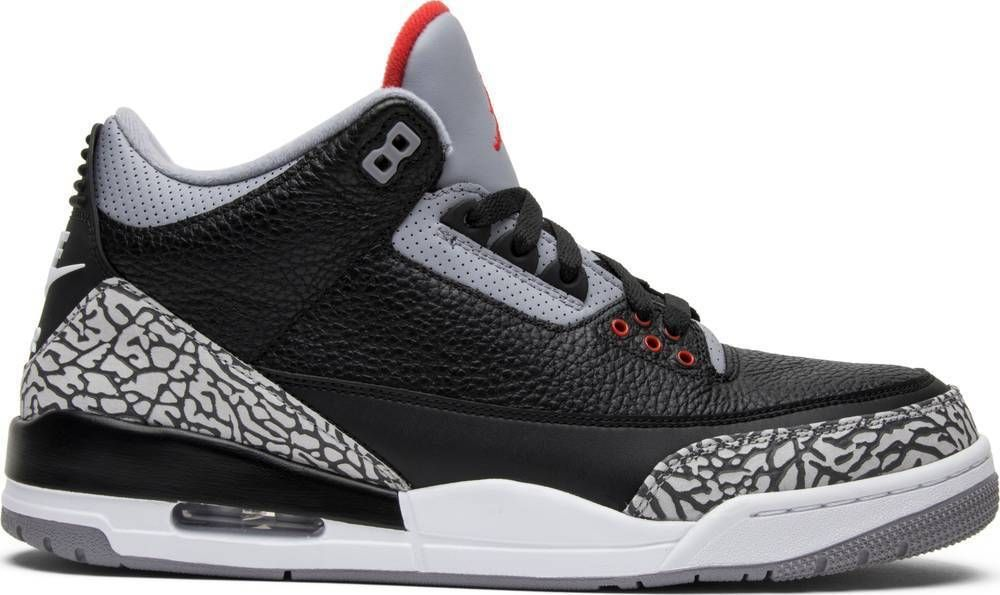 Details about Nike Air Jordan 3 Black Cement Retro III OG ...
