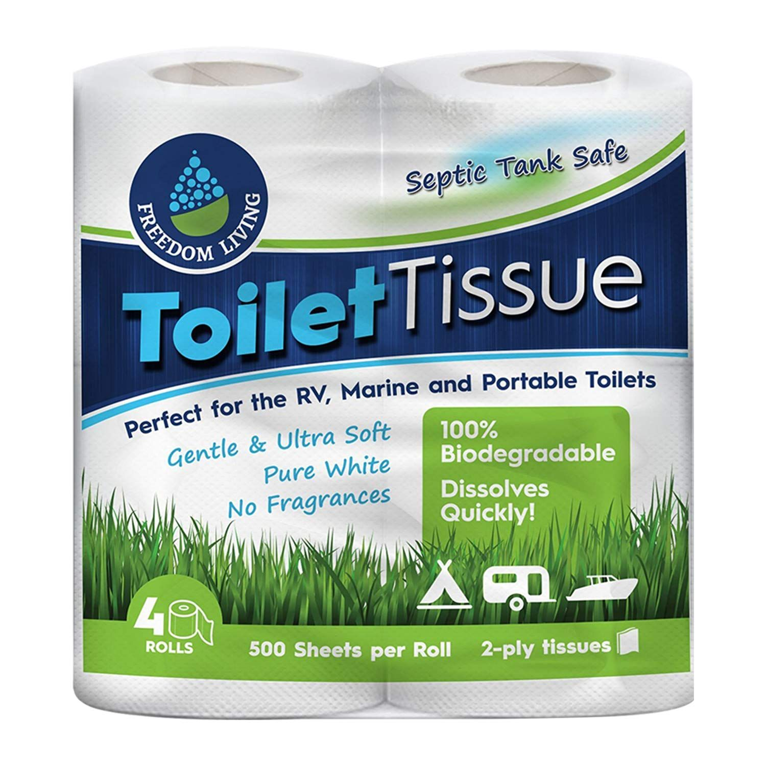 Septic Tank Safe Toilet Tissue 2 Ply 4 Rolls For Rv Camping Biodegradable Products Septic Tank Septic System