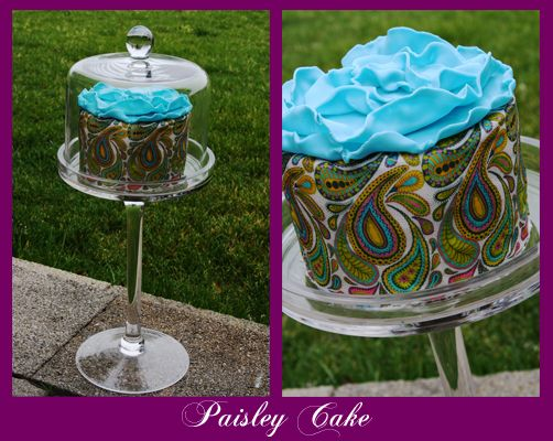 Paisley Cake with Modeling Chocolate Flower | Modeling ...
