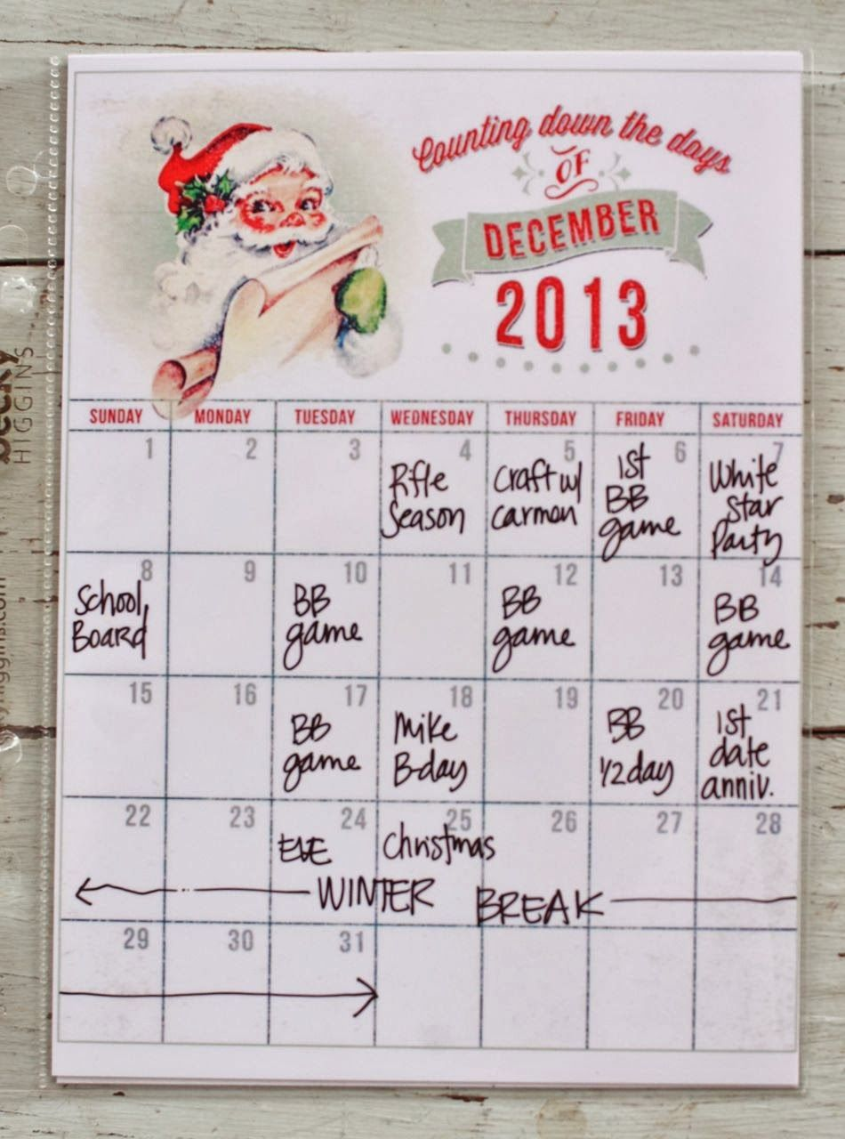 Usi Calendar.So Excited To Be Sharing The First Of My Completed December Memories