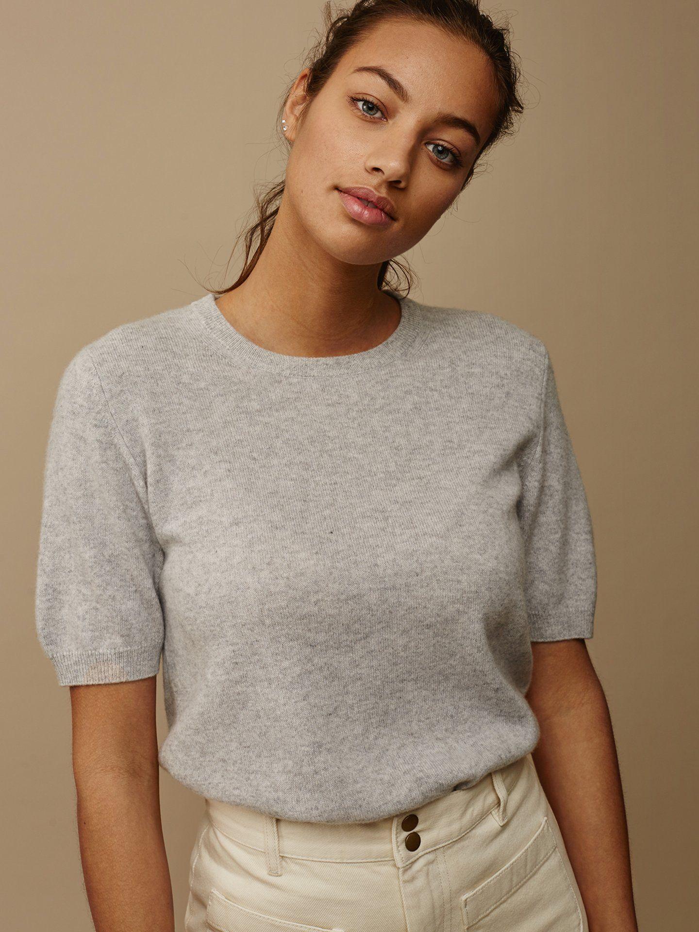 23e8bbd38 Women's Short Sleeve o-neck - Soft Goat - 100 % cashmere | Cashmere ...