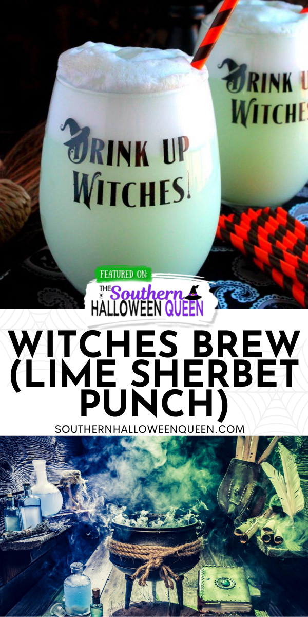 Halloween 2020 Queen Of The South Witches Brew (Lime Sherbet Punch) | The Southern Halloween Queen