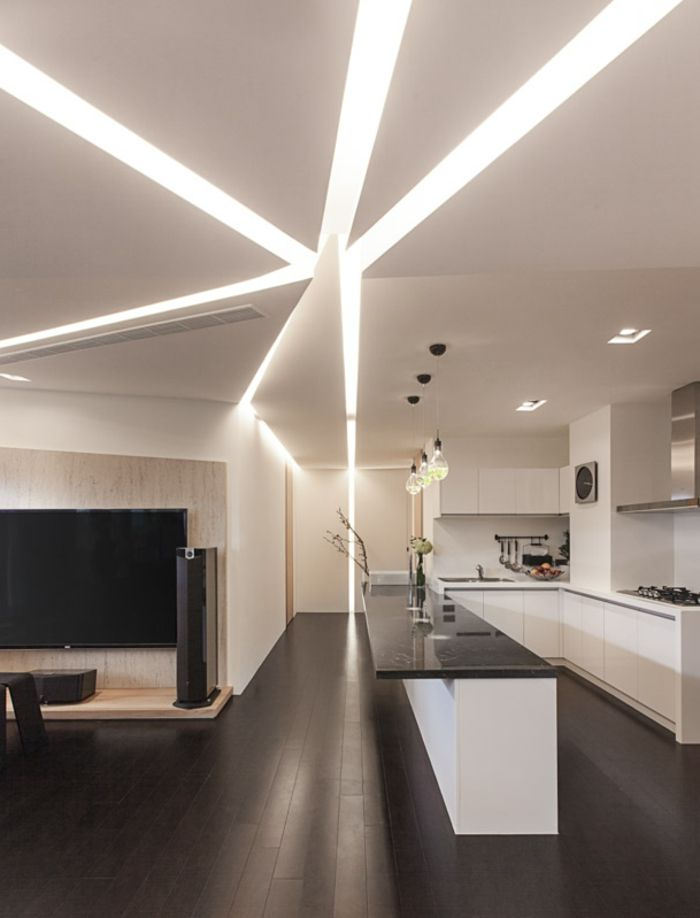 Bekannt Plafond moderne dans la chambre à coucher et le salon | Plafond  BM76