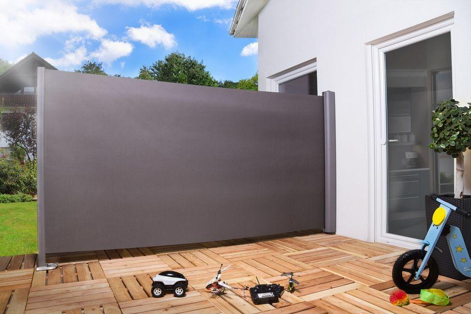 Seitenmarkise Sichtschutz Sonnenschutz Windschutz 180 x 300 cm ...