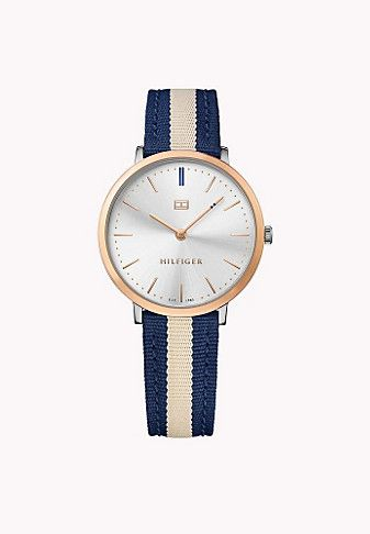 c8ea56df4 Canvas Strap, Rose Gold Plated Tommy Hilfiger Watch | ACCESSORIES ...