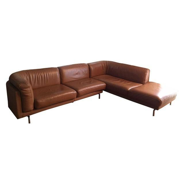 Image Of Maurice Villency Custom Leather Sofa