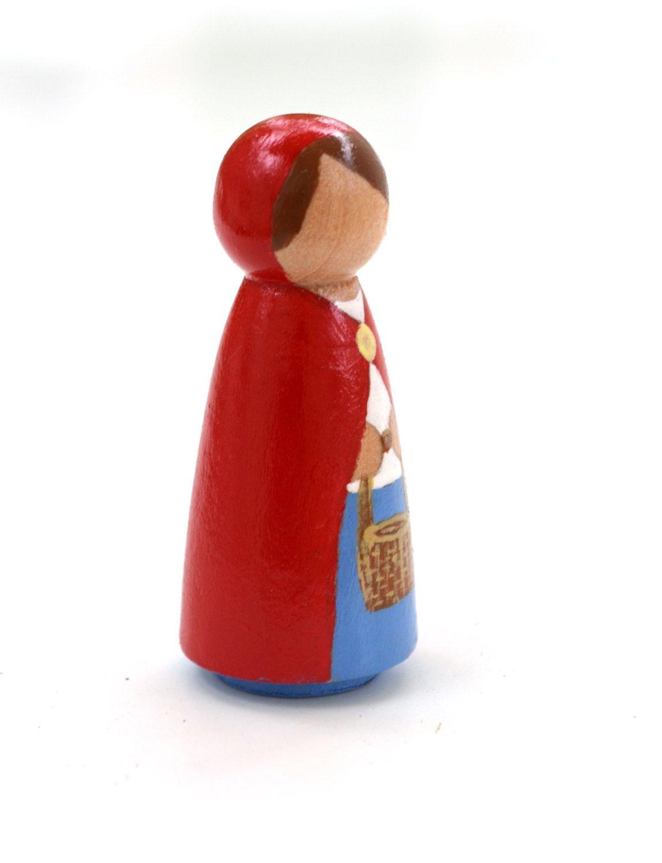 Dollhouse Dolls Peg People Little Red Riding Hood