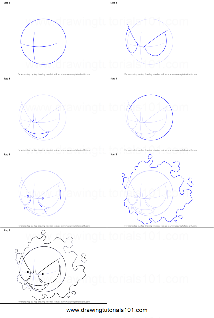 step by step how to draw mewtwo