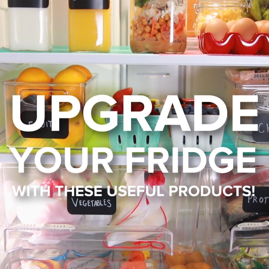 Upgrade Your Fridge #organize #label #fridge #spacesaver
