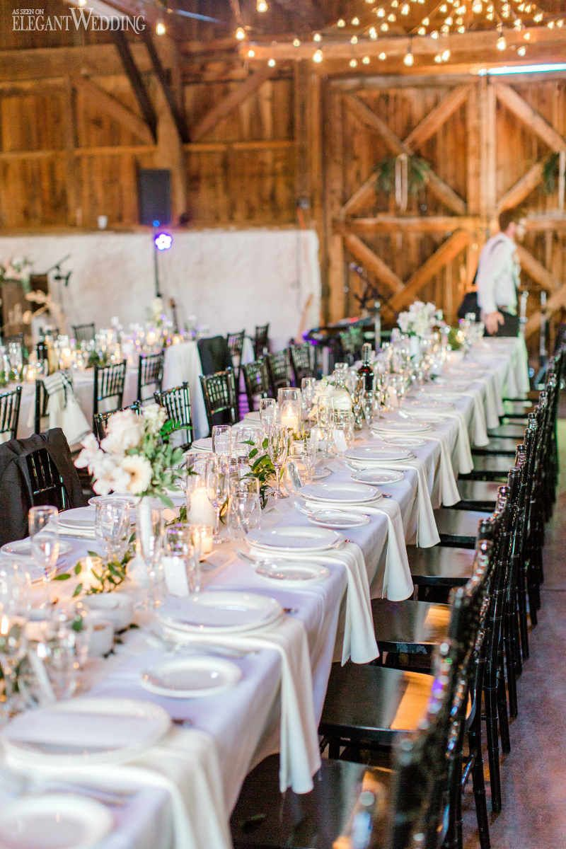 boho wedding featuring triangle arch also contemporary with pops of pink table settings