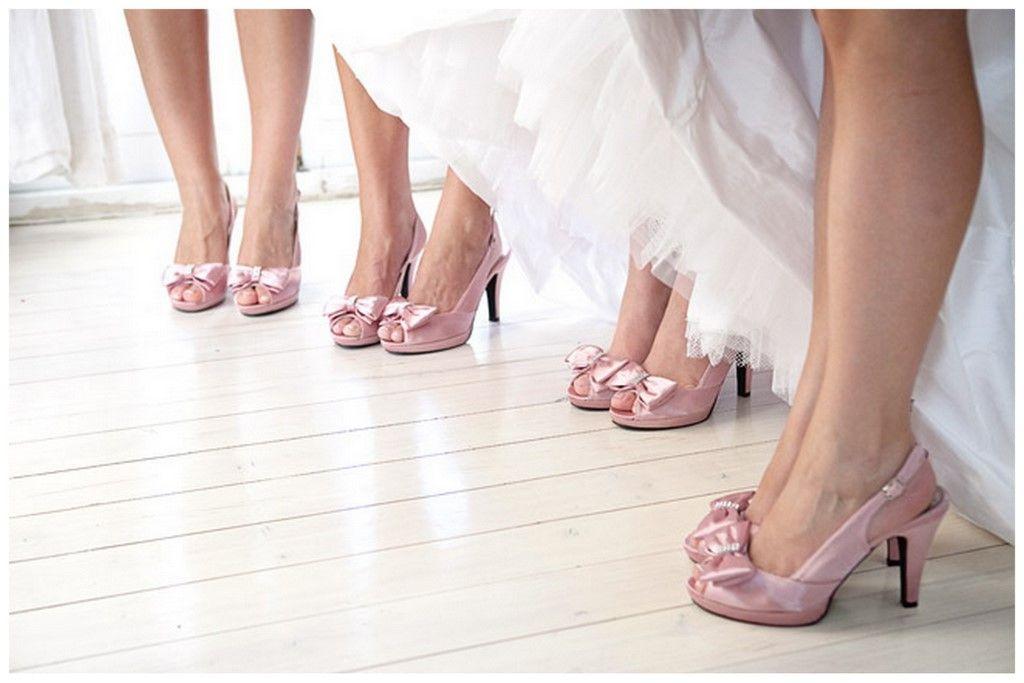 Real Wedding At Kleinevalleij Pink ShoesButterfly