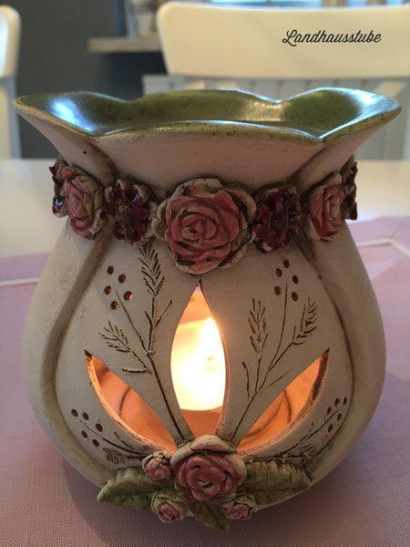 Duftlampe Rosen von Landhausstube auf DaWanda.com | Deko ...