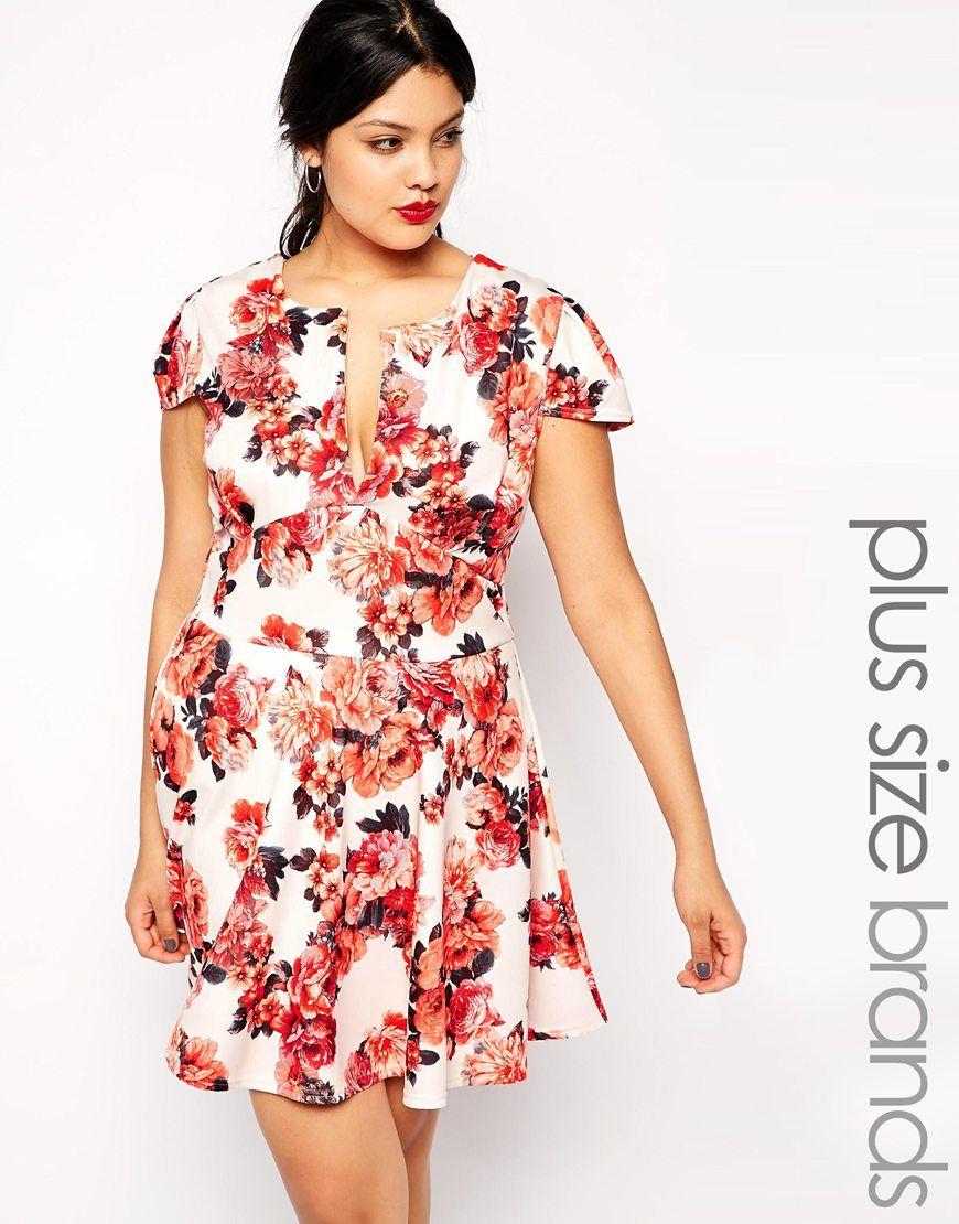 floral skater dress plus size