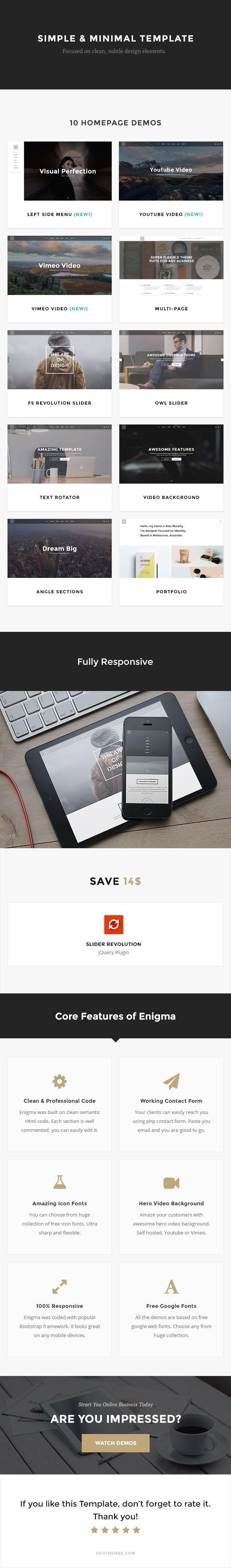Enigma | Creative Responsive Minimal HTML Template | Minimal ...