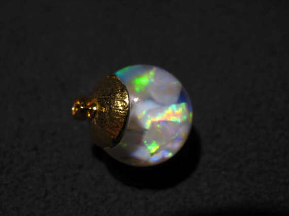 Floating Opal Pendant With Sterling Silver Lid 6ct Coober Pedy and Lightning Ridge Opal Opal Chips
