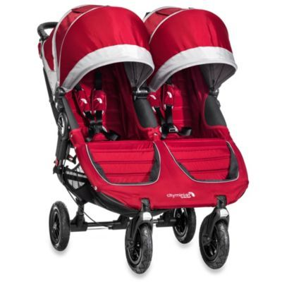 Baby Jogger 174 City Mini Gt Double Stroller In Crimson Grey