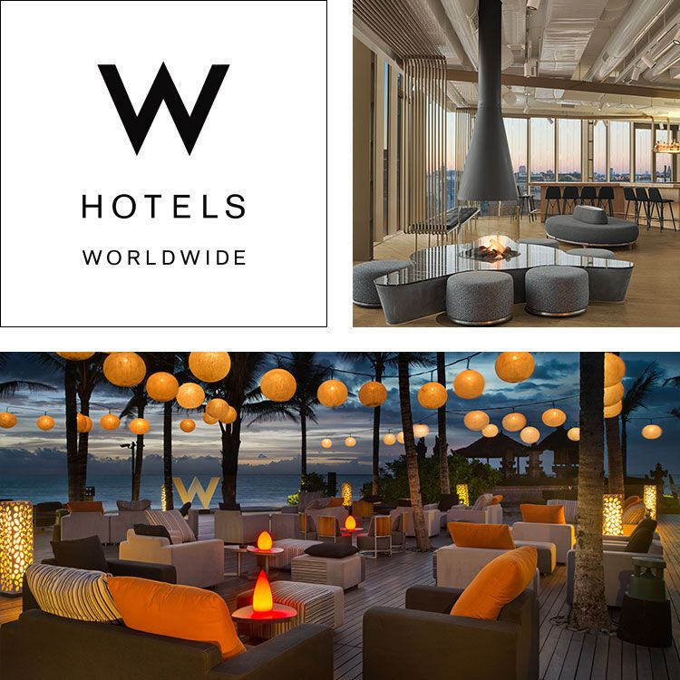 Montage Of W Hotels Logo Amsterdam Large Common Area Bali Outdoor Seating