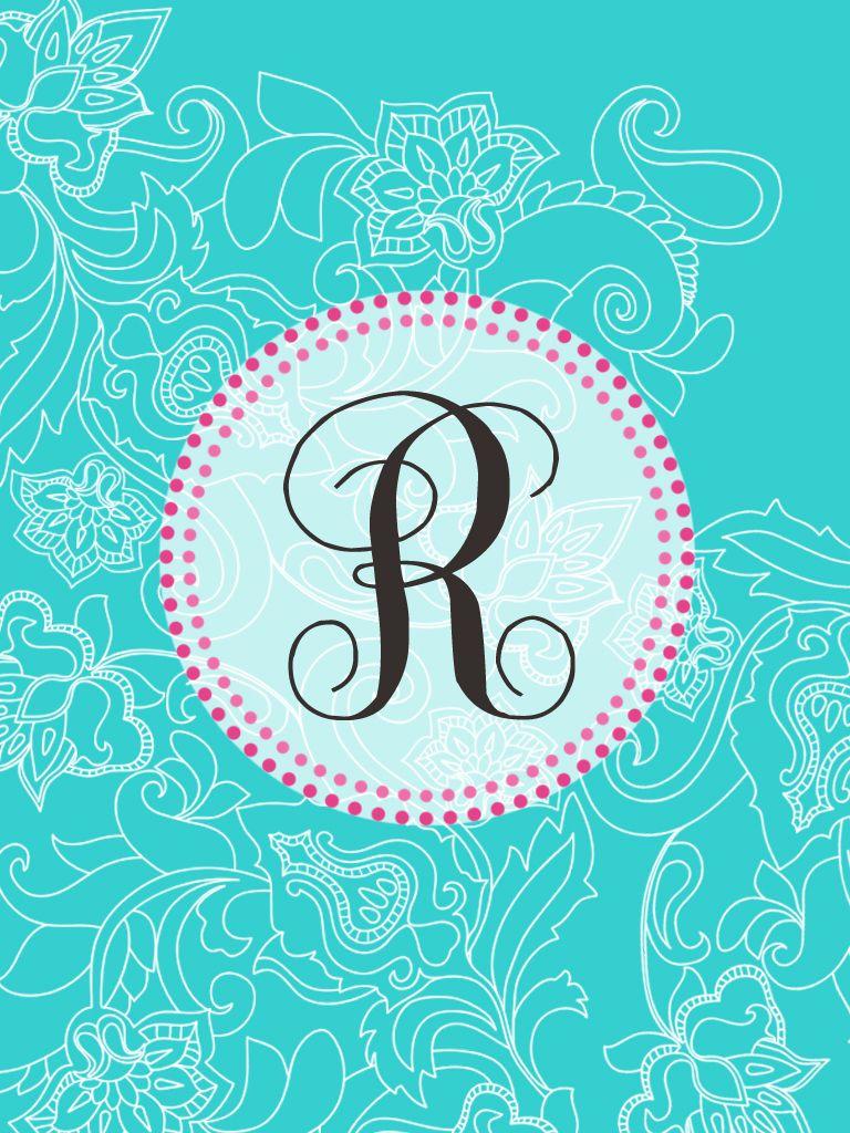 Super Cute R Monogram Monogram Wallpaper Name Wallpaper Free Printable Monogram